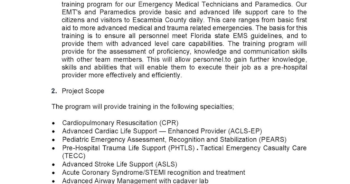 jeff bergosh blog  what is the scope of work  sow  for the emt  ems training procurement