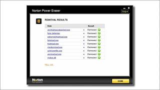 اداة التنظيف بالقوة Norton Power Eraser