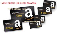 Logo Concorso ''Iscriviti & Vinci'': in palio 114 buoni Amazon ( da 100€, 500€ e 2.500€)