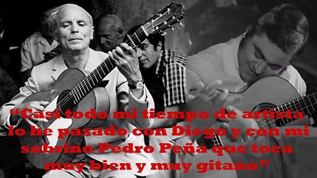 Diego del Gastor y Pedro Peña supiero crear el ambiente con sus guitarras para sacar el mejor Perrate de Utrera Cantaor