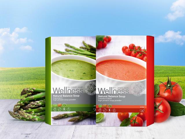 Με Σπαράγγια-Με Ντομάτα & Βασιλικό Wellness Natural Balance Aoups πακέτο των 21 δόσεων