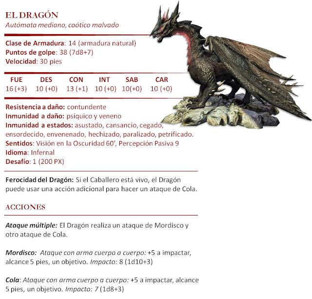 Monstruos D&D 5ª Edición - Marionetas Titiritero Dragón