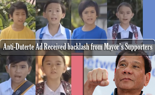 Anti-Duterte Ad Received backlash from Mayor's Supporters
