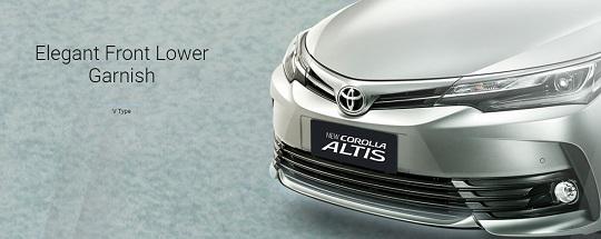 Eksterior Toyota Corolla Altis Tahun 2018