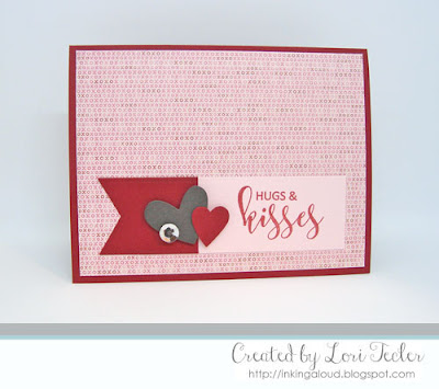 Hugs and Kisses card-designed by Lori Tecler/Inking Aloud-stamps from Avery Elle