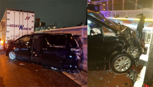 Boyband 5tion kecelakaan mobil saat menuju lokasi konser di Osaka-Jepang.