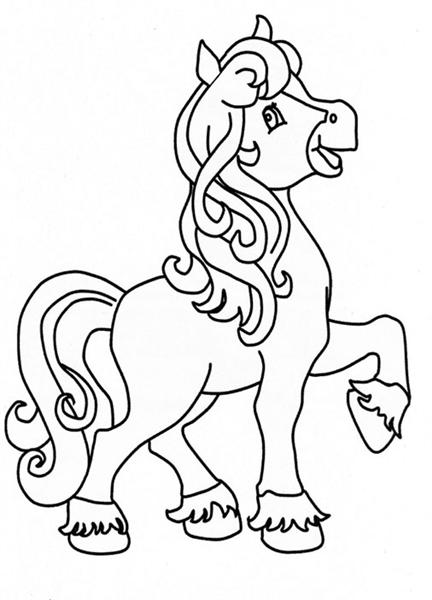 Horse Coloring Pages Team Colors