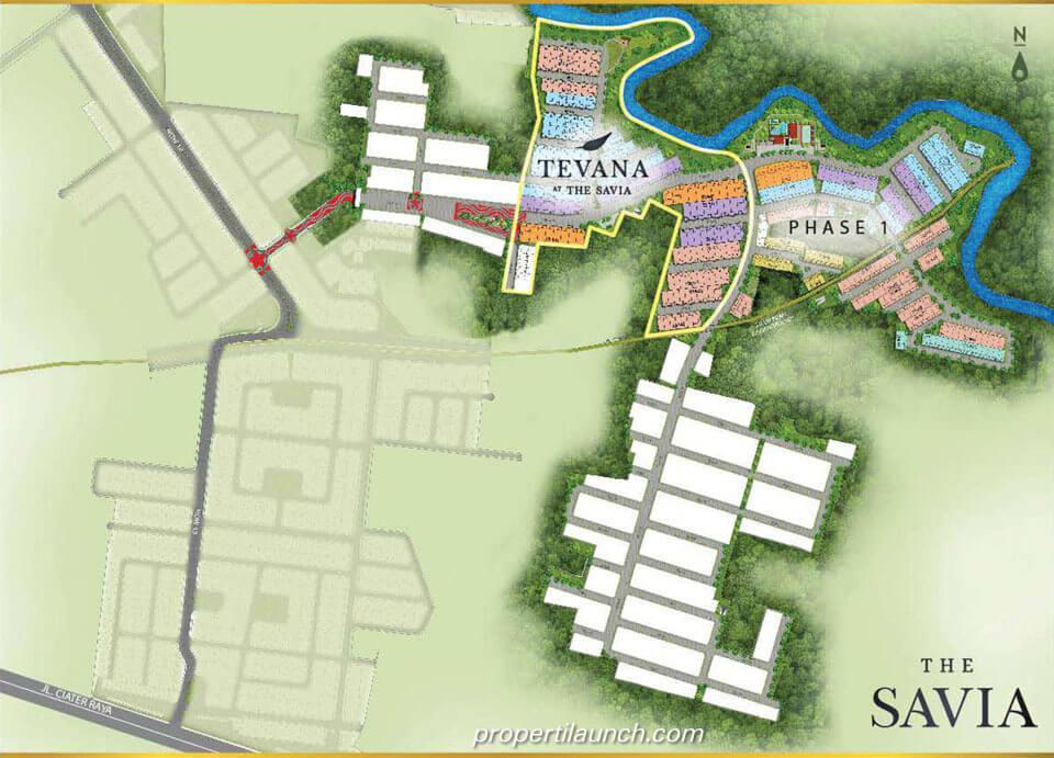 Lokasi Tevana at The Savia BSD