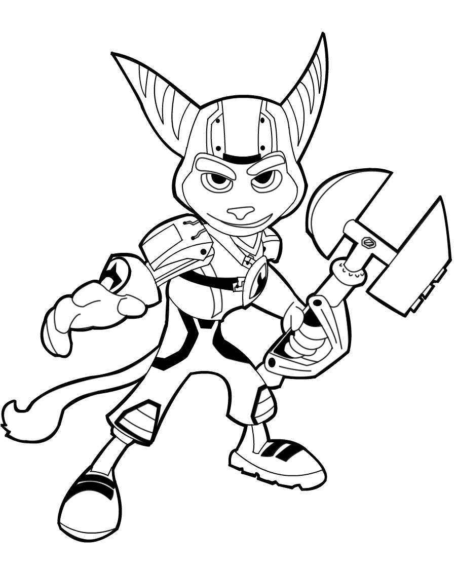 Ratchet e Clank  Disegni da Colorare
