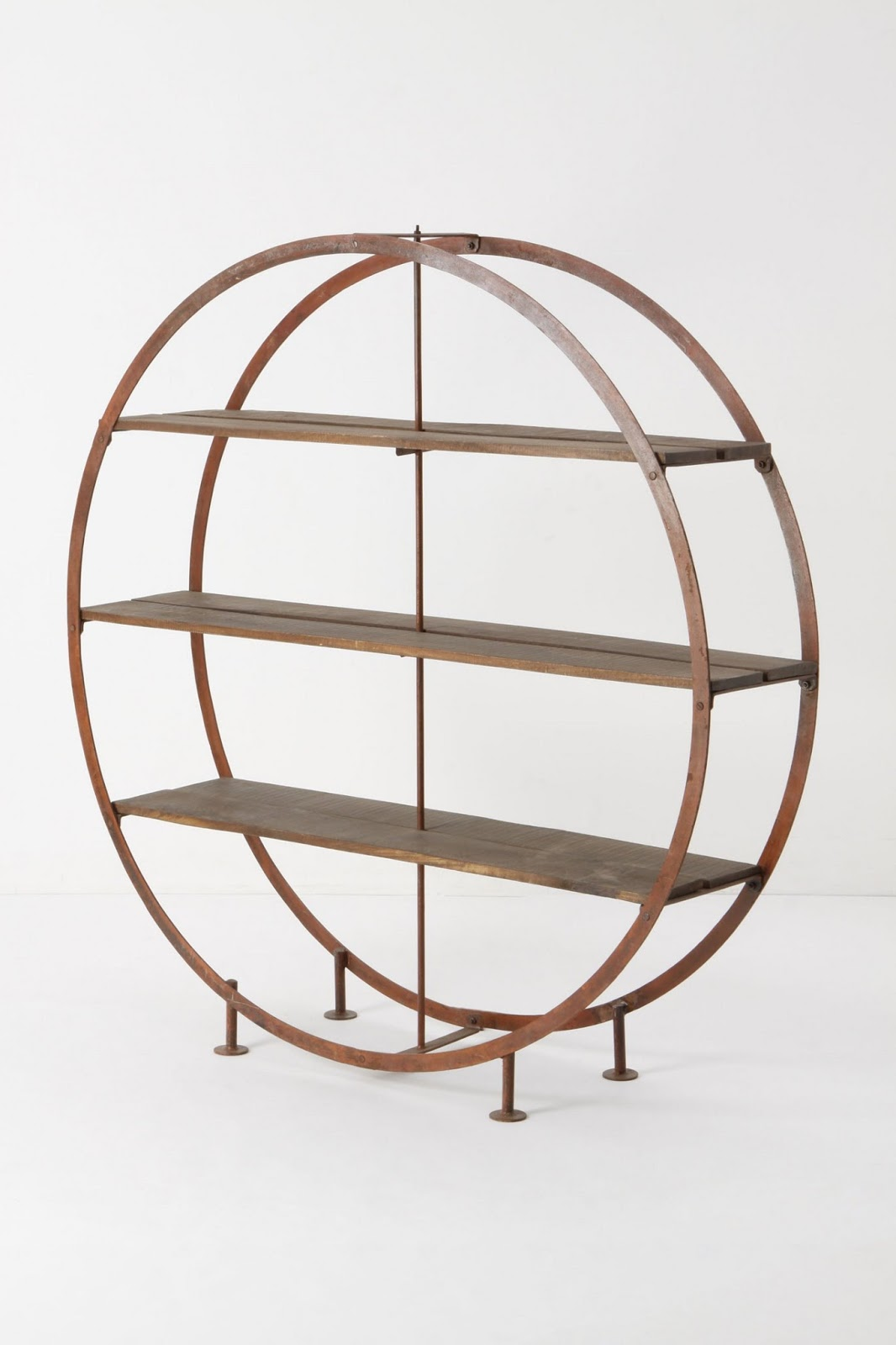 Copy Cat Chic Hudson Goods Round Industrial Bookshelf