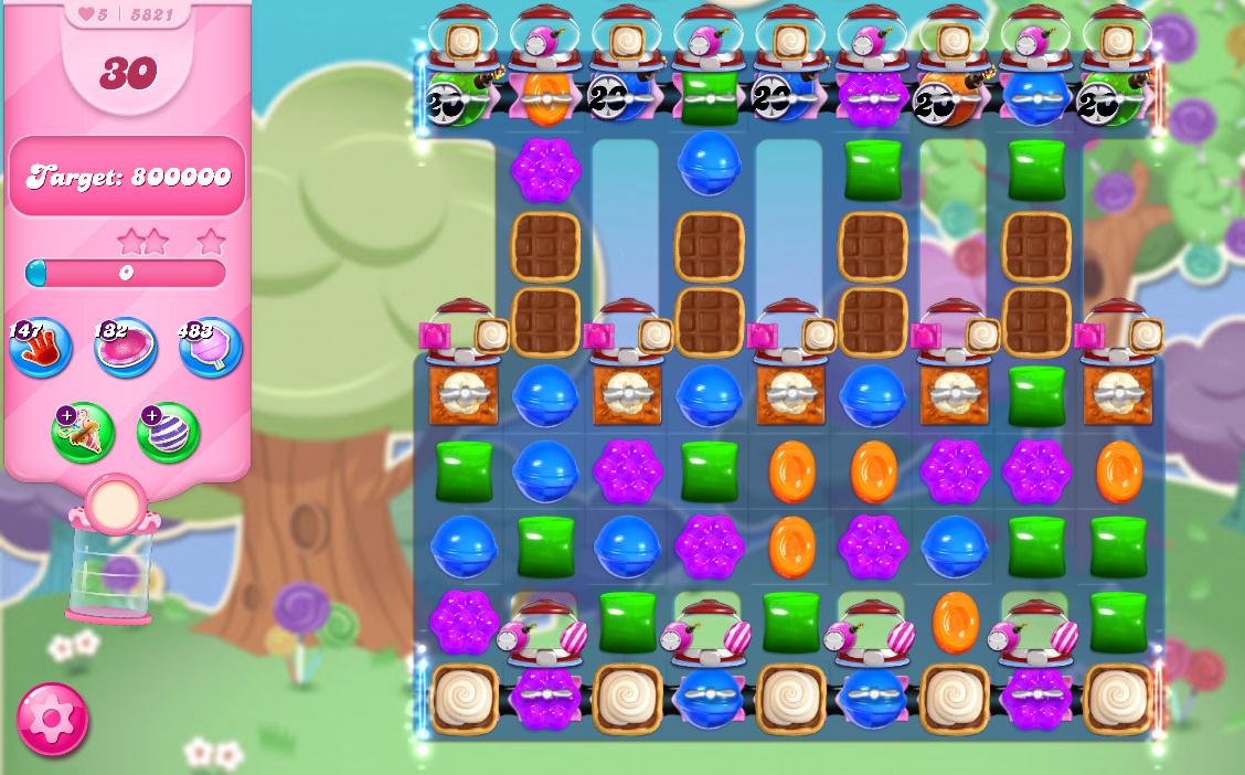 Candy Crush Saga level 5821