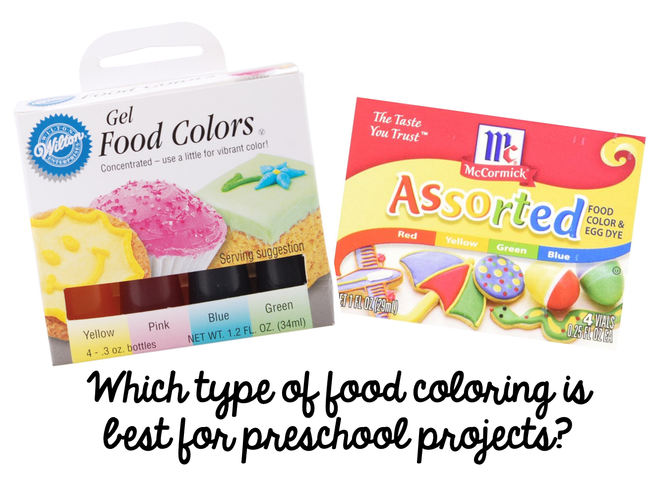 Preschool Ponderings: Which type of food coloring to use?