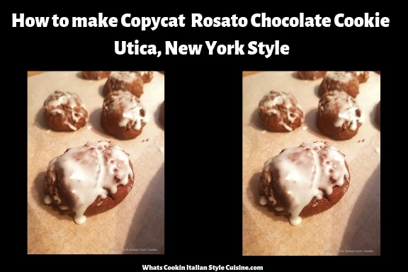 this is how to make chocolate cookies they are a copycat recipe from Utica New York