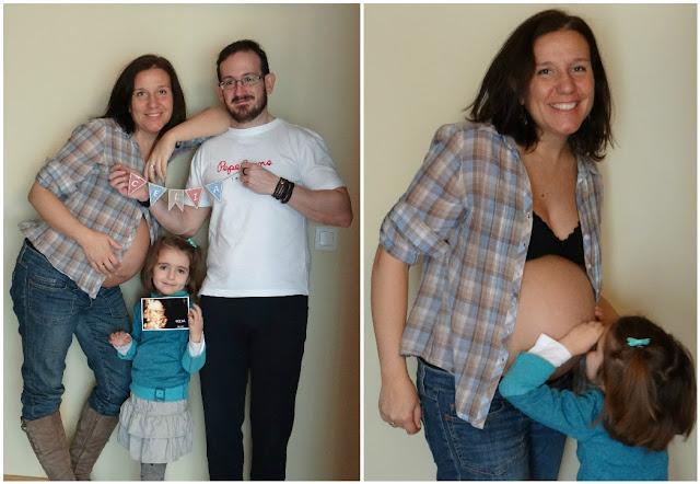Fotos a los 8 meses de embarazo de Celia