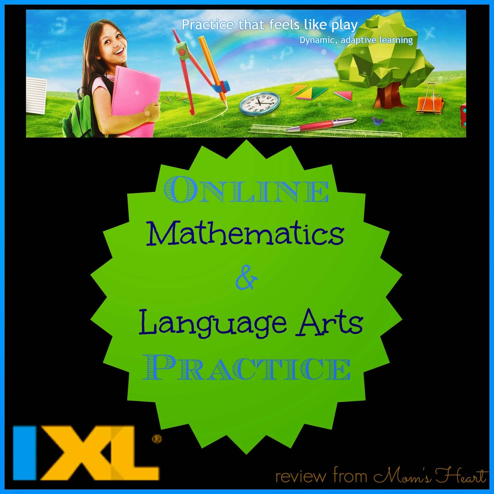 Mom\'s Heart: Math and Language Arts with IXL.com {Schoolhouse Review}