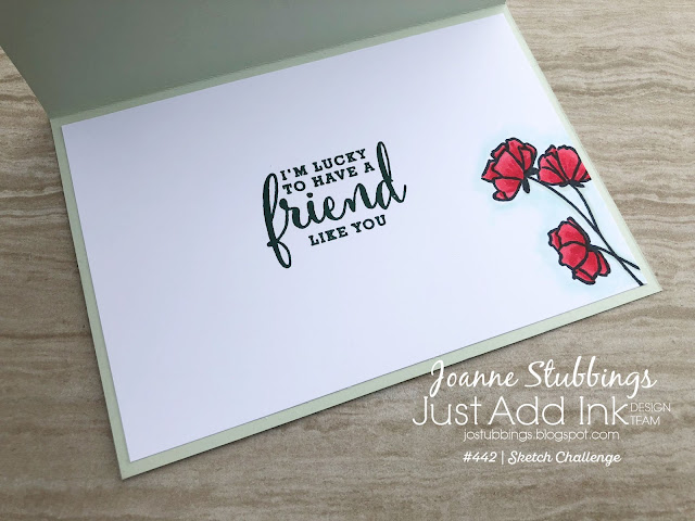 Jo's Stamping Spot - Just Add Ink challenge #442 using Love What You Do by Stampin' Up!
