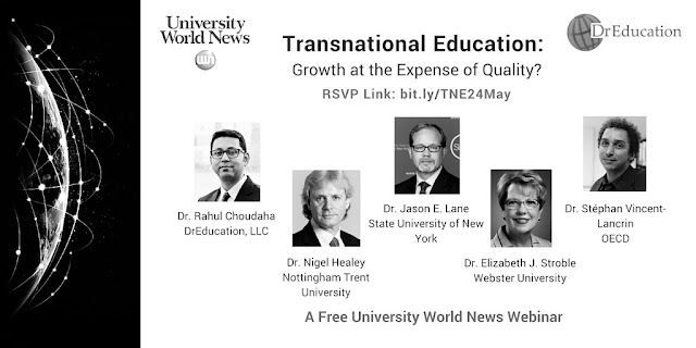 Transnational and cross border education webinar chaired by Rahul Choudaha DrEducation