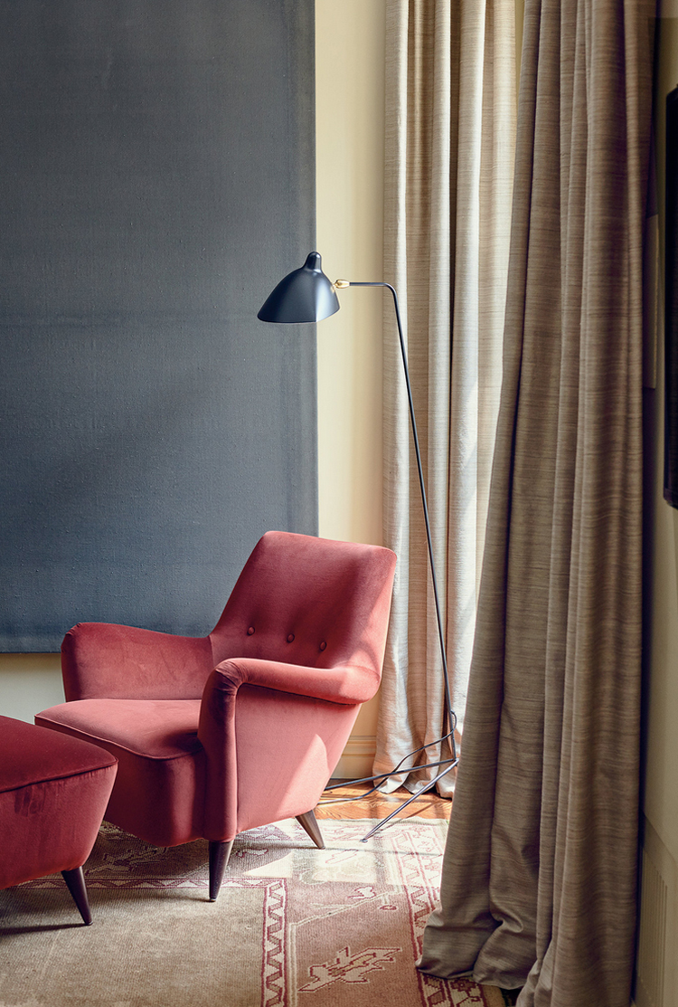 An upper east side gem billy cotton mimosa lane a good reading nook is always essential in a home and having a serge mouille floor lamp just makes it even better arubaitofo Images