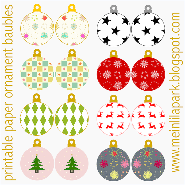 Soft image inside printable christmas tree ornaments