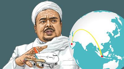 Habib Riezieq Belum Jelas Balik,Himbau Jangan Ke Bandara Soeta