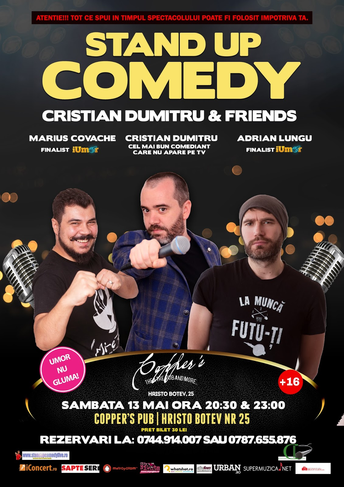 Stand-Up Comedy Sambata 13 Mai Bucuresti