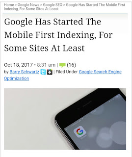 Google mobile indexing