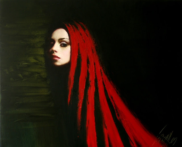 "Ukrainian Portrait painter-""Ladies in Red"" 