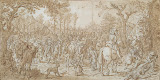 Village Plundered by Marauders by Sebastiaen Vrancx - Genre Drawings from Hermitage Museum