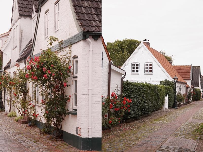 Gassen und Architektur in Wyk auf Föhr