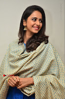 Actress Rakul Preet Singh Stills in Blue Salwar Kameez at Rarandi Veduka Chudam Press Meet  0126.JPG