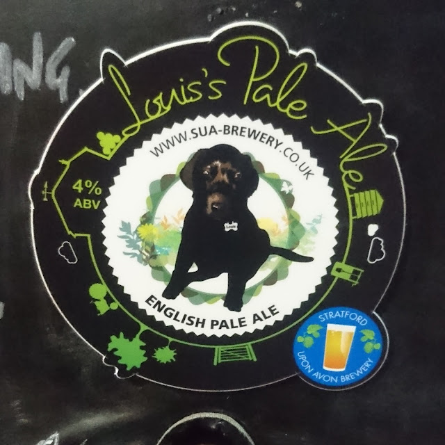 Warwickshire Craft Beer Review: Louis's Pale Ale from Stratford-upon-Avon Brewery real ale pump clip