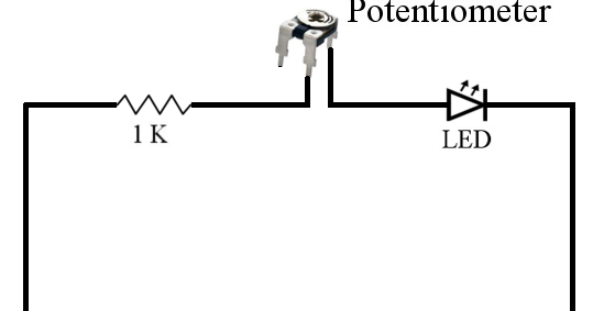 three ways of connecting potentiometer in circuits with