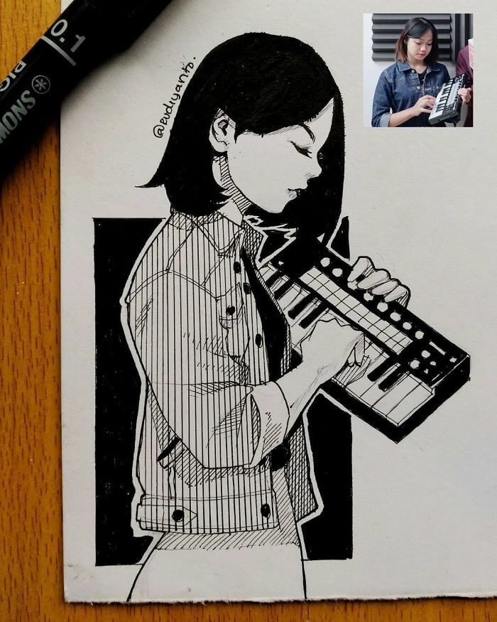 Indonesian Illustrator Draws Cartoon Portraits Of Real People With Perfect Accuracy
