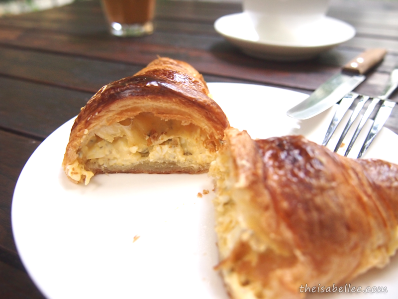 Three Little Birds Coffee Egg Mayo Croissant