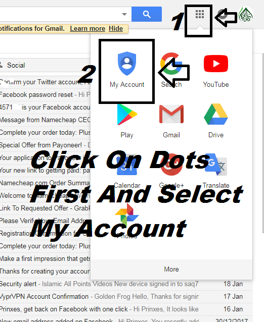 How to delete gmail account permanently tech world 3 scroll down and select delete your account or services ccuart Images