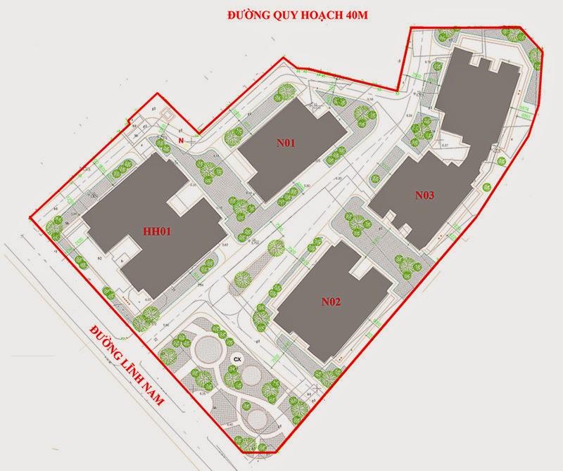 Mặt bằng dự án chung cư New Horizon City 87 Lĩnh Nam