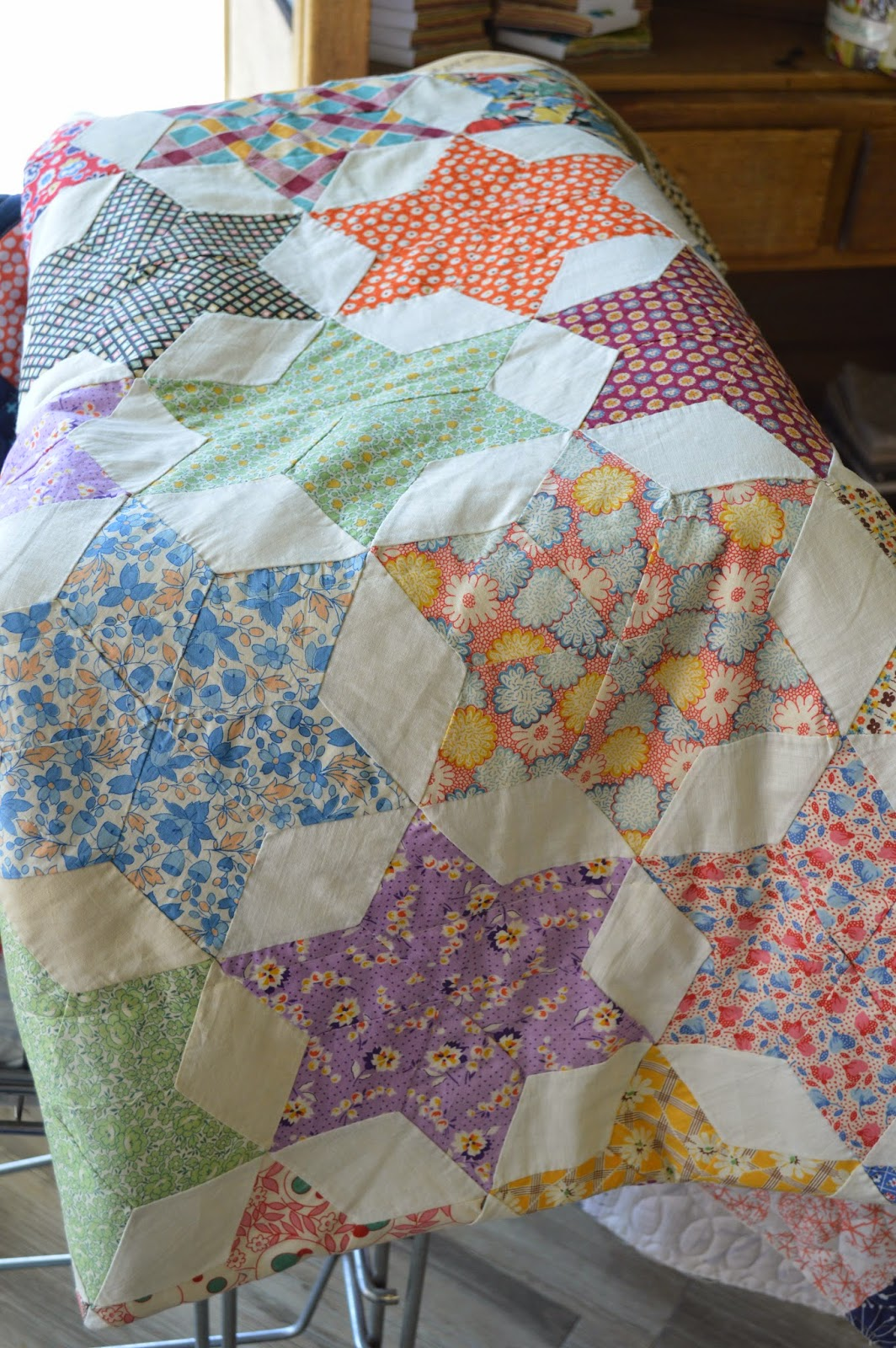 The Quilt Barn Vintage Quilt Thursday 6 Pointed Star