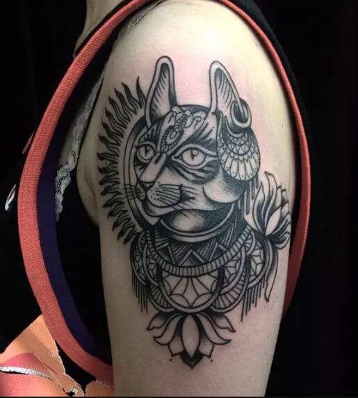 Egyptian Cat Tattoos