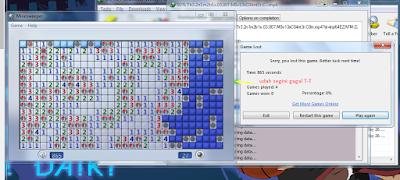 Screenshot gagal advanced level