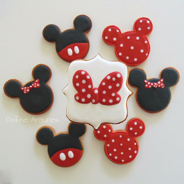 biscoitos Minnie e Mickey