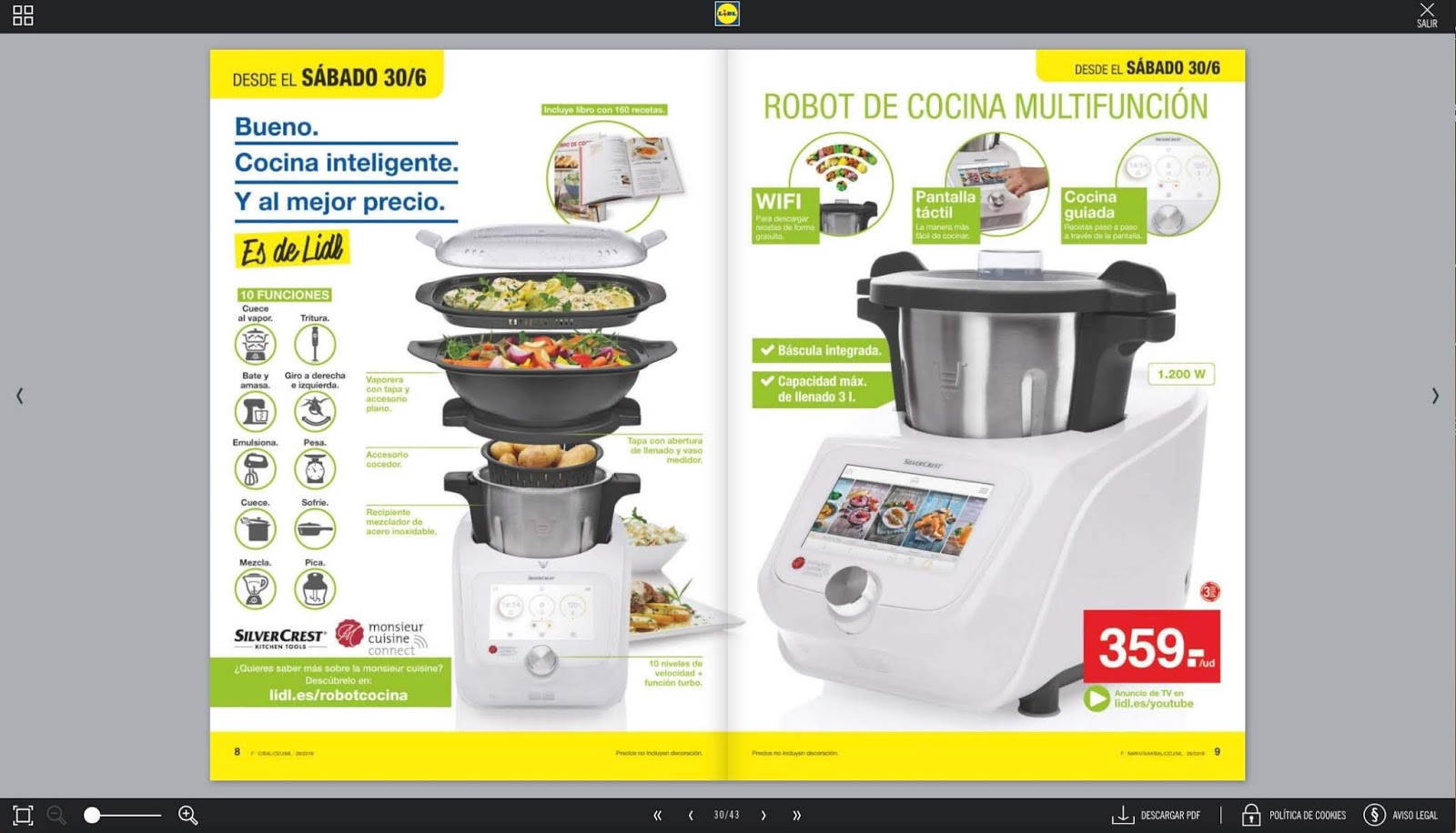 Robot Cocina Silvercrest Monsieur Cuisine Plus And Connect Junio 2018