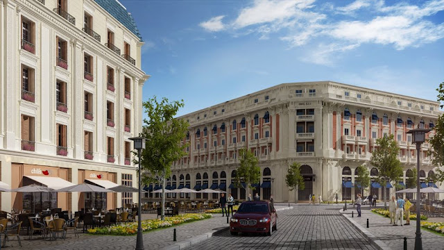 The design of buildings at the new Latin quarter in New Alamein