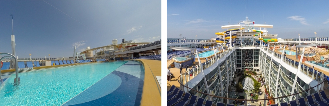Pool deck Harmony of the Seas