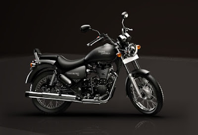 Royal Enfield Thunderbird 500 black color HD Images