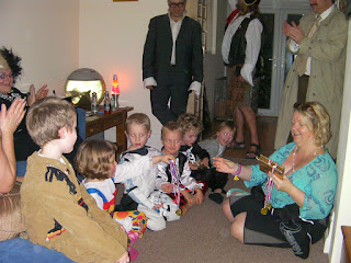 prizegiving ceremony for fancy dress contestants