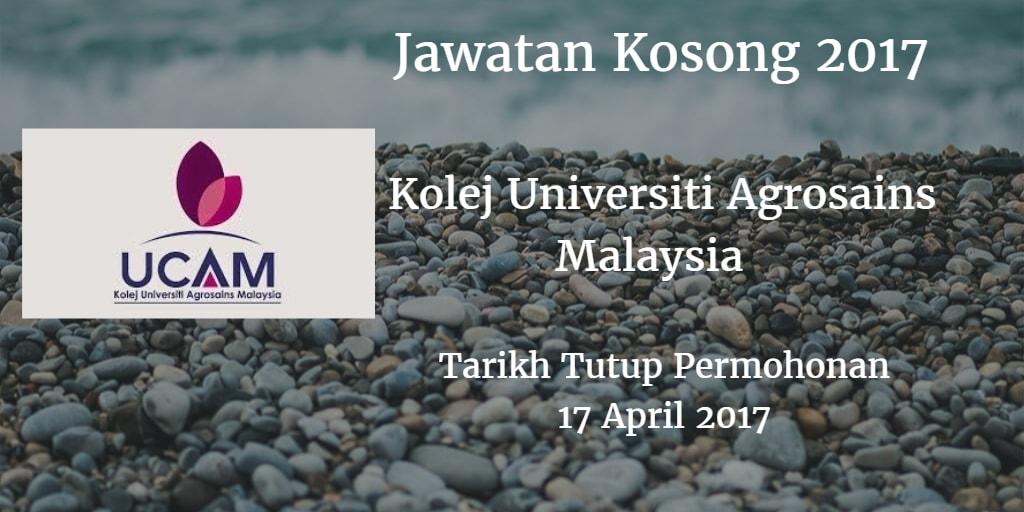 Jawatan Kosong UCAM 17 April 2017