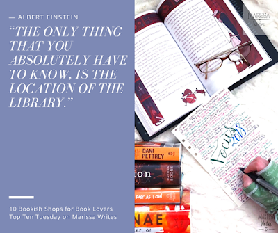 Top Ten Bookish Shops for Book Lovers - Top Ten Tuesday on Reading List