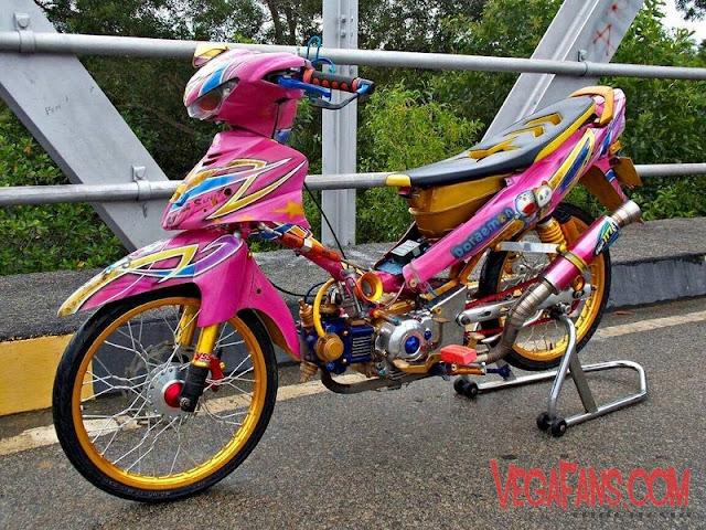 Modifikasi Jupiter Z Pink Thailook Style
