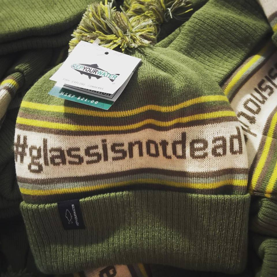 52f50fbff37c5 The Rep Your Water  glassisnotdead Knit Hats are very warm and are made of  100% acrylic. I know sizing is always asked about and these should fit all  head ...