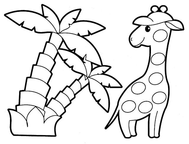 tranh tô màu động vật cho bé tập tô màu 4